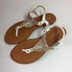 sandale ravne bijele