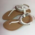 sandale ravne bijele 188-13