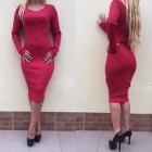 haljina crvena dugi rukav