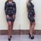 haljina kratka dugi rukav