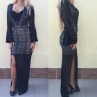 haljina crna čipkana