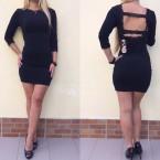 haljina crna kratka