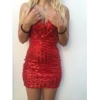 haljina crvena kratka