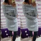 džemper sivi